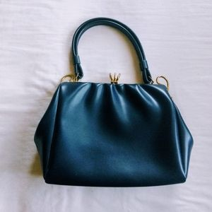 Vintage Blue and Gold Purse